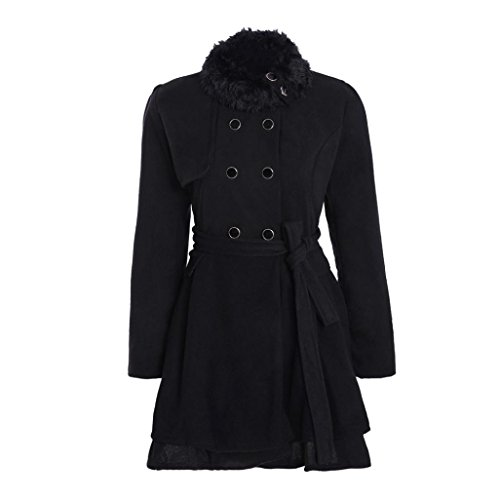 Women Jacket Warm Slim Coat Thick Parka Overcoat Long Winter Outwear by TOPUNDE