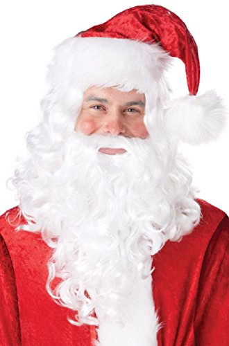 St Nicholas Wig and Beard Costume Accessory (Child Santa Wig And Beard)