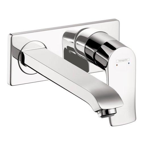 Hansgrohe 31086001 Metris Wall-Mounted Single Handle Faucet Trim, Chrome - Metris Single Handle