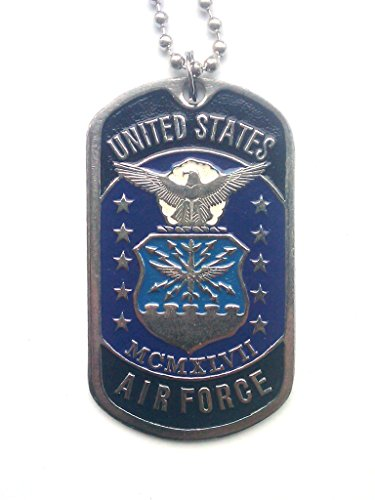- Karelia Military Dog Tags with Picture Stainless Embossed Army Pendants Necklace U.S. Army (U.S. Air Force)