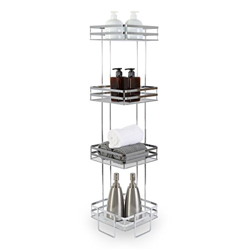 (BINO 'Lafayette' 4-Tier Square Spa Tower, Chrome)