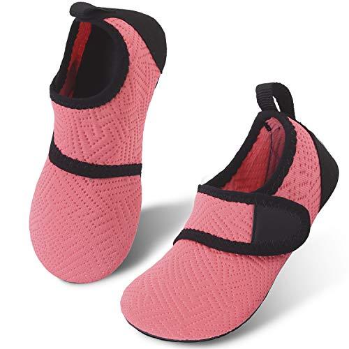 JIASUQI Kids Boys Girls Water Shoes Quick Dry Barefoot Aqua Socks for Beach Swimming Pool