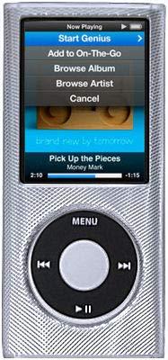 (HD Accessory Aluminum Crystal Hard Case for 4th Generation iPod Nano (Silver))