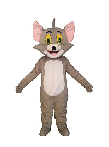 Tom Cat Adult Mascot Costume Cosplay Suit Fancy Dress Outfit ()