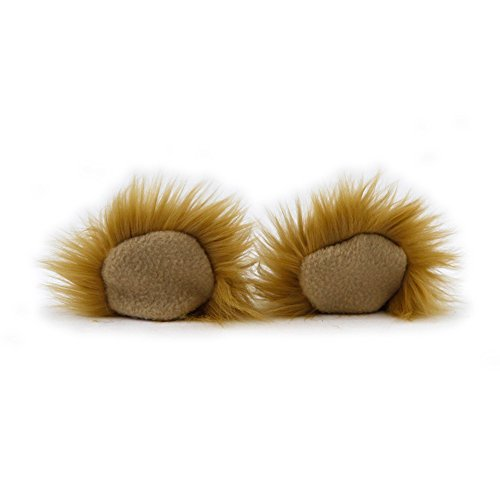 Price comparison product image Pawstar Clip In Furry Teddy Bear Ears Hair Clips On - Butterscotch