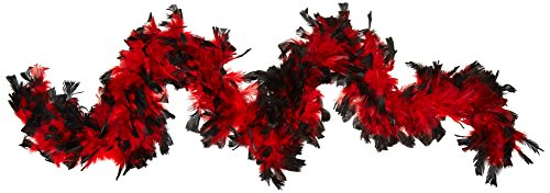 Deluxe 133g Red/Black Feather Boa Costume Accessory