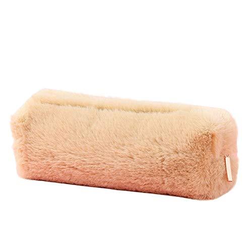 Pencil Case Pencil Bag-Lovely Girl Plush Fuzzy Fluffy Pencil Case Makeup Pouch Coin Purse Storage Bag | School Supply Organizer - Pen Box Pencil Holder School Stationery Storage Case