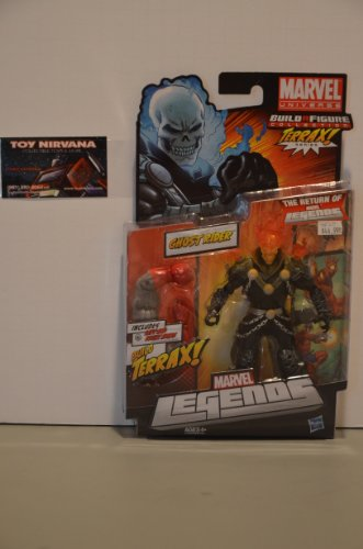 Series 1 Action Figure Ghost Rider Red / Orange Head Variant Terrax BuildAFigure Piece ()