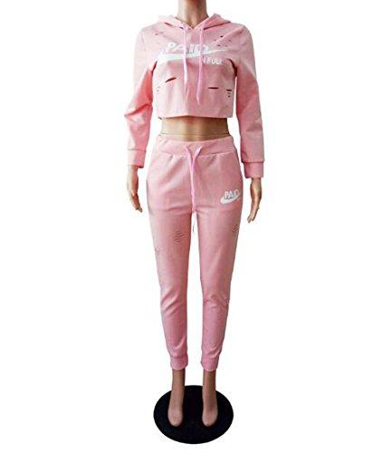 Crop Jumpsuit Rose Ensemble 2 Couleur Plaine S Shorts Casual HEFEI Top Stripe Tenues Pice Pantalon Taille Femmes XIAOXAIO w8CnqIU