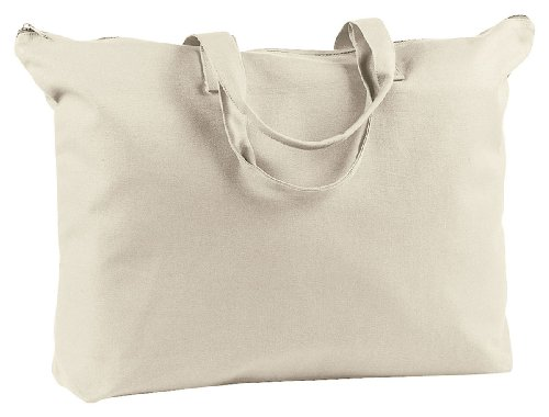 Accessories Big Bagedge (BAGedge 12 oz. Canvas Zippered Book Tote - NATURAL - OS)