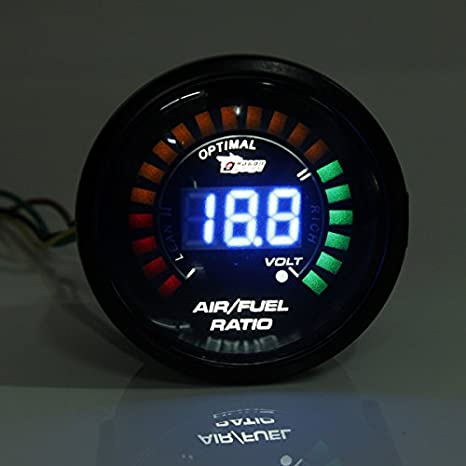 New 2 Inch 52MM 20 LED Digital Car Air Fuel Ratio Monitor Racing Gauge by Bcn