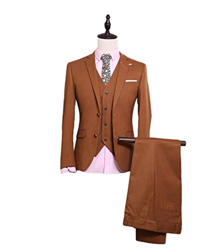 Botong Brown Men's Formal Occasion Suits Wedding Party Suits (L)