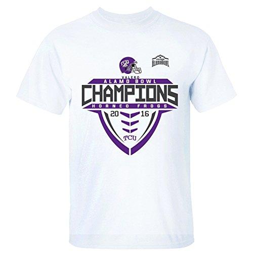 - MVYE Men's TCU Horned Frogs 2016 Alamo Bowl Champions T Shirt Organic Cotton white XXL