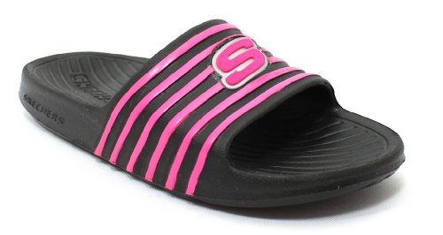 Skechers Girls' Cali Gear Skedaddles Casual Shoes,Black/Pink,13 M US Skechers Girls Cali Gear
