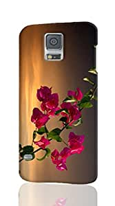 Bougainvillea, Branches, Leaves, Sky, Sunset -Samsung galaxy s5 i9600 Case - The Best Rough surface 3d Full Wrap phone cases for Samsung galaxy s5 i9600 case