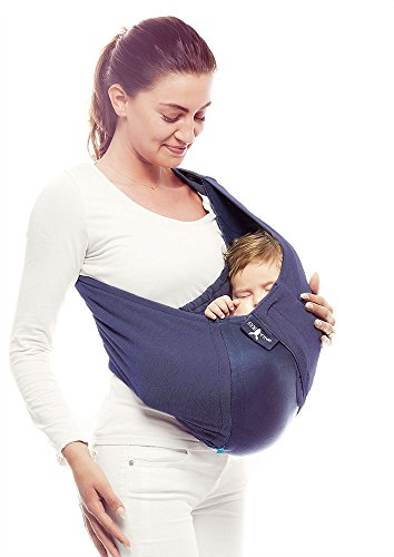 Wallaboo Baby sling Connection, Easy Adjustable and Ergonomic, Newborn and Up,100% Cotton, Taupe/Grey