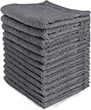 Premium Pet Hair Drying Salon Towels 100% Cotton 16''x27''. Perfect for Pet Baths: Cats Kittens Dogs Puppies - Quick Dry Absorbent and Soft - Economy Bundle (1 Dozen/12 Pieces)