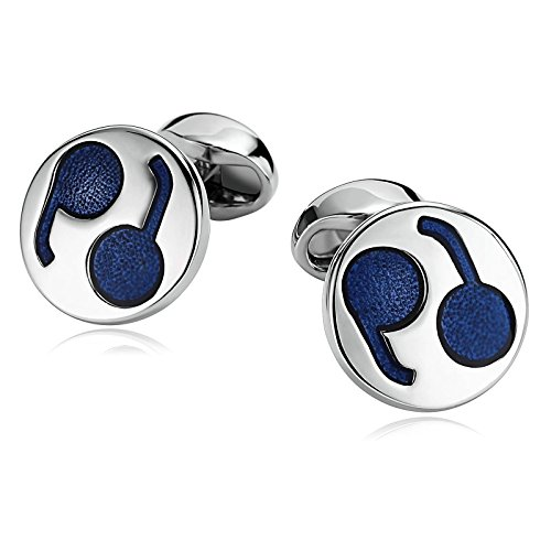 - Beydodo Cuff Links Valentines Stainless Steel Cufflink for Men Two-Tone Round Shape Father of The Bride Gifts Wedding