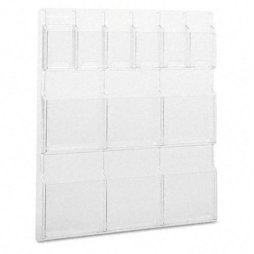 (Safco : Reveal 12-Pocket Plastic Literature Display, 6 Magazine/6 Pamphlet Racks Clear -:- Sold as 2 Packs of - 1 - / - Total of 2 Each)