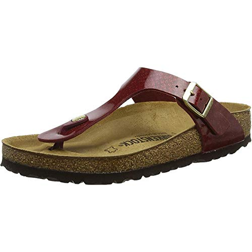 Birkenstock Gizeh Magic Snake Bordeaux Birko-Flor 6 Regular US Women