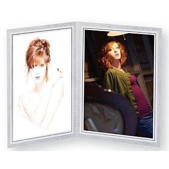 Amazoncom Gray Cardstock Double 8x10 Photo Folder Frame Wblack