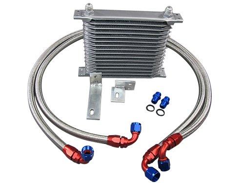 Aluminum Engine Oil Cooler Upgrade Kit For Mitsubishi 3000GT / Dodge Stealth (Mitsubishi 3000gt Engine)