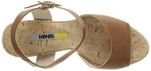 MANAS Sandalias de plataforma Marron (Tan)