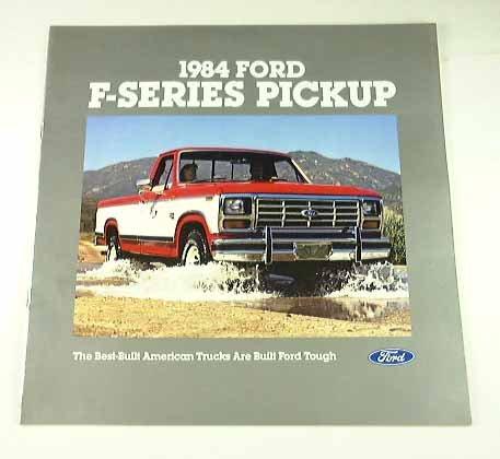 1984 84 Ford F-SERIES PICKUP Truck BROCHURE F150 (Ford F150 Brochure)