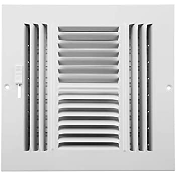 Accord ABSWWH488 Sidewall/Ceiling Register with 4-Way Design, 8-Inch x 8-Inch(Duct Opening Measurements), White