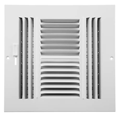 Accord ABSWWH488 Sidewall/Ceiling Register with 4-Way Design, 8-Inch x 8-Inch(Duct Opening Measurements), ()