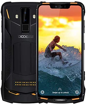 DOOGEE S90C Rugged Smartphone Unlocked 4G, Dual SIM Unlocked Cell Phone Android 9.0, IP68/IP69K Waterproof Helio P70 4GB+64GB, 6.18 inch 5050mAh, 16MP+8MP+8MP AI Camera NFC Wireless Charge, Orange