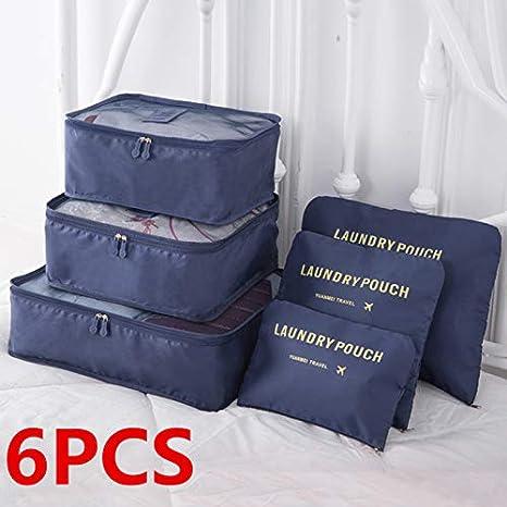c642d2136ccc Aoile 6PCS/Set Travel Storage Bag in Bag Luggage Organizer Cube ...
