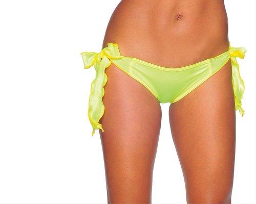 BODYZONE Women's Tie Side Scrunch Rio, Neon Yellow, One Size