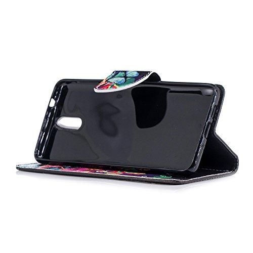 PU BONROY Cuir 1 Coque Housse 2018 3 Nokia Flip qqTwpgX