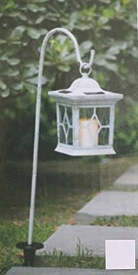 Jardín de larterne con vela LED Solar Luz solar velas Jardín Decoración vela parpadeante. VERS. Color: Amazon.es: Iluminación