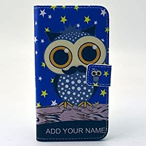 SHOUJIKE Star Owl Pattern PU Leather Full Body Case with Stand and Card Holder for Samsung Galaxy S6 Edge