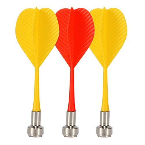 Ezyoutdoor 3 Pcs Tip Darts with National Flag Flights - Stainless Steel Needle Tip Dart for Dartboard Fun (Dart Tip Tube)