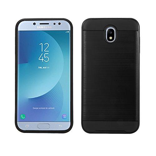 Samsung Galaxy J5 Pro / J530 Case, Samsung Galaxy J5 (2017) Case, Slim Armor Hybrid Cover [Scratch/Dust Proof] Defender Dual Layer Shockproof Protection Case (VGC Black)