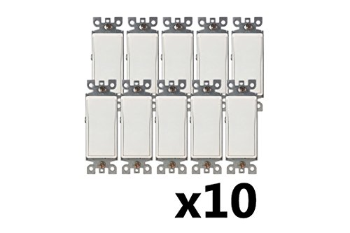BYBON 15A 3-WAY Decorative Light Switch,UL listed (10 Pack)