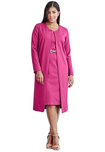 Jessica-London-Womens-Plus-Size-2-Piece-Pont-Knit-Jacket-Dress