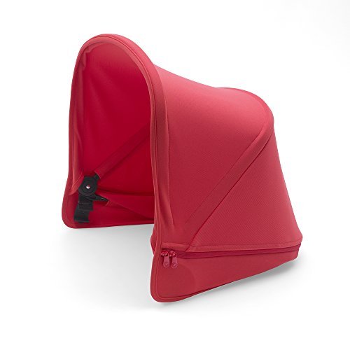 Bugaboo Donkey2 Sun Canopy, Neon Red - Extendable Sun Shade for Full Weather Protection, Machine Washable - Bugaboo Canopy Sunshade