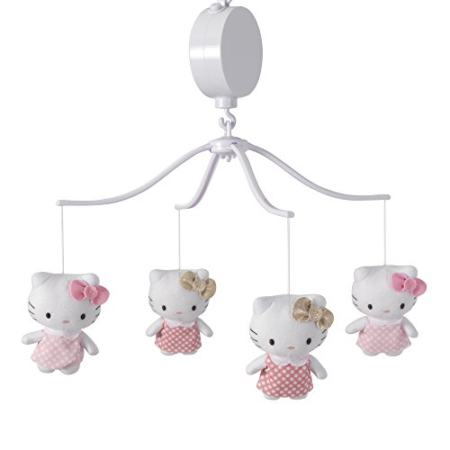 - Bedtime Originals Hello Kitty Luv Musical Mobile, Pink/Gold