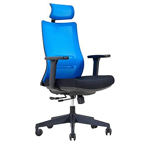 (LJHA Swivel Chair, Ergonomics Computer Chair Staff Office Chair Leisure Mesh Swivel Chair - High Back Lounge Chair, 4 Colors Leisure Chair (Color : A))