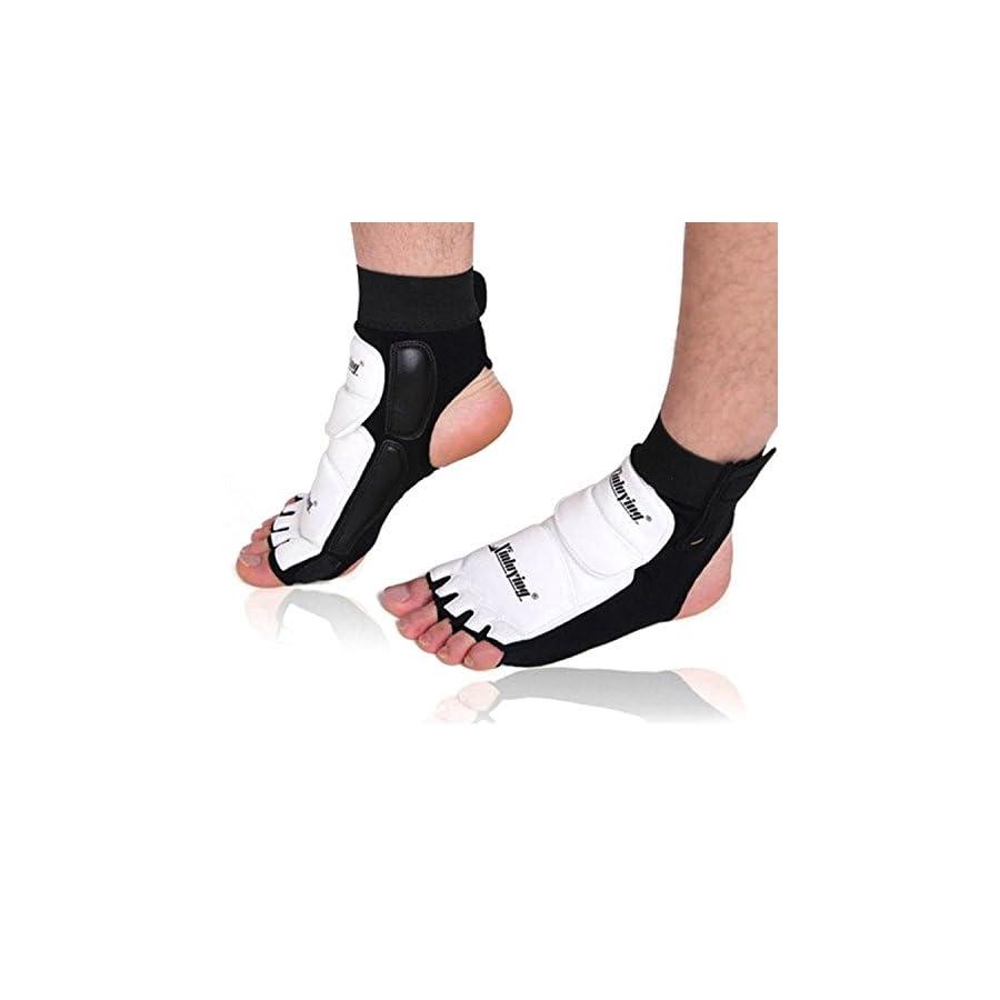Elastic Ankle Brace Support Pad Foot Protector Kickboxing Taekwondo Foot Gear Martial Arts Protector Sparring Gear Foot Support Socks for Adult Children
