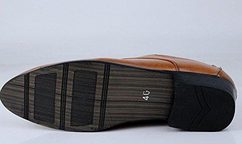 Uomo Punta da Lavoro da A Moda Traspiranti da Stringate Scarpe Uomo da Sposa Brown Scarpe Casual Scarpe Scarpe SXRq8xn
