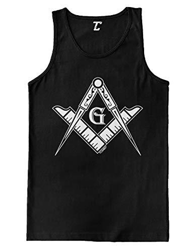 Freemason Logo - Illuminati Square & Compass Men's Tank Top (Black, - Compass Tank