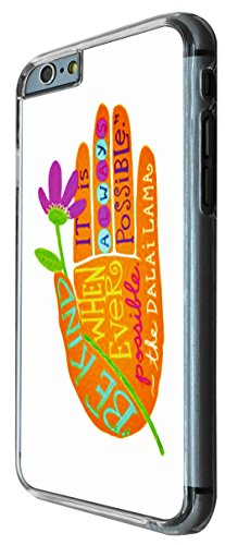 664 - Floral Hand Be Kind Always Possible Design iphone 6 6S 4.7'' Coque Fashion Trend Case Coque Protection Cover plastique et métal