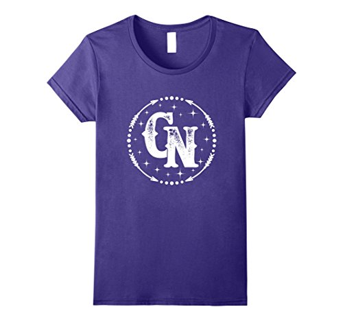Womens C&N C and N Monogram Name Matching T-shirt XL Purple - Female Names That Begin With C