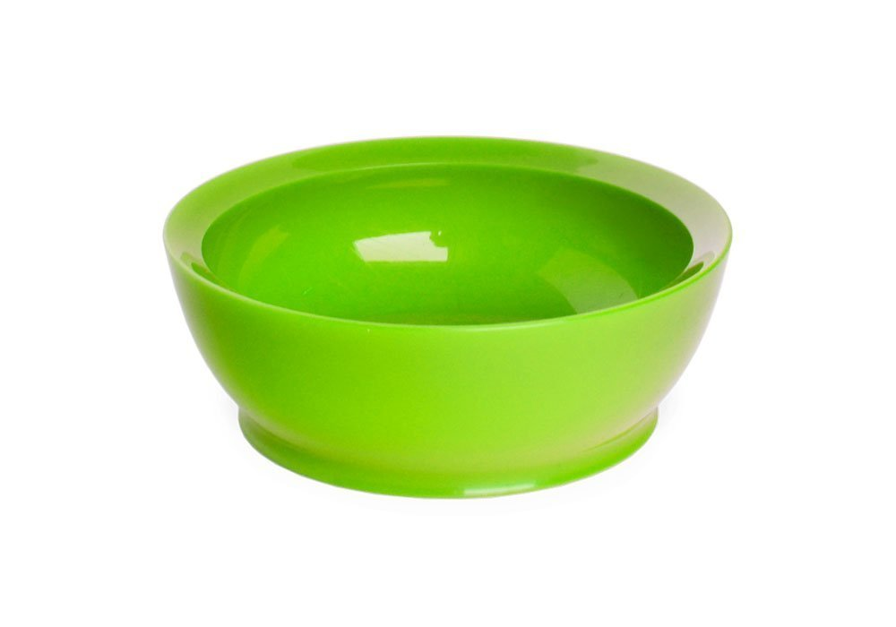 CaliBowl Non-Spill Low Profile Bowl with Non-Slip Base, 12-Ounce, Green