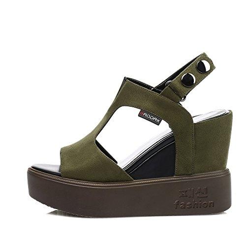 Bout Green Ouvert AdeeSu Femme SLC04093 Rxvqn1